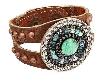 Leather Rock Tori Bracelet