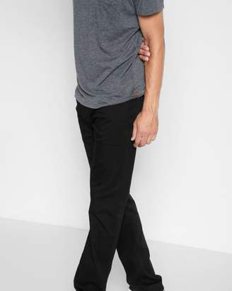 7 For All Mankind Luxe Sport the Straight Clean Pocket in Black