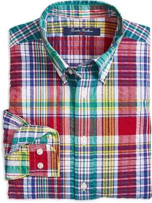 Brooks Brothers Boys' Madras Sport Shirt