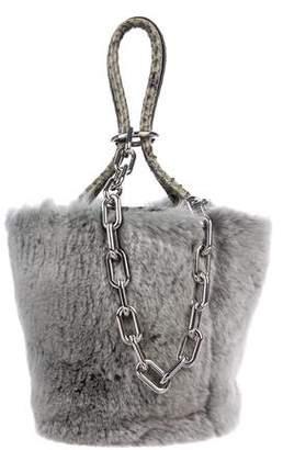 Alexander Wang Roxy Rabbit Fur Mini Bucket Bag