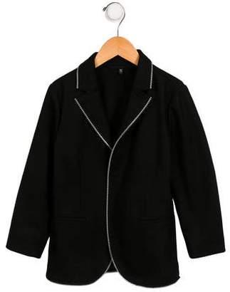 Armani Junior Boys' Wool Zip-Trimmed Blazer