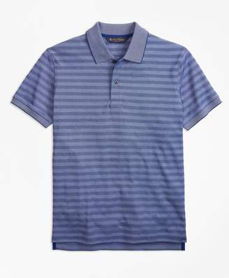 Brooks Brothers Slim Fit Textured Stripe Polo Shirt