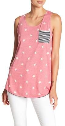 Papillon Star Patterned Chest Pocket Sleeveless Shirt