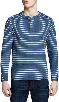 Jack and Jones Striped Cotton Henley