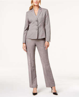 Le Suit Melange Three-Button Pantsuit
