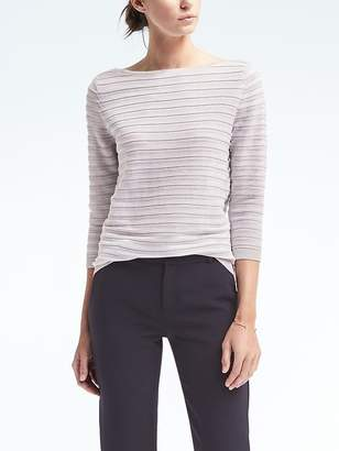 Sailor Stripe Boat-Neck Pullover $78 thestylecure.com