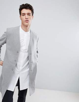 NATIVE YOUTH Collarless Overcoat