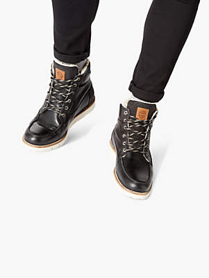 Dune Capuccino Warm Lined Apron Boots