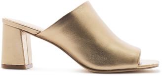 Rachel Zoe Mila Metallic Leather Block Heeled Mules