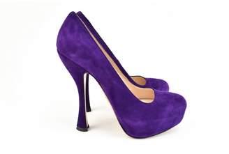 Prada Purple Leather Heels