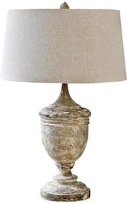 Regina-Andrew Design Gesso Wood Vase Table Lamp - Natural - Regina Andrew Design