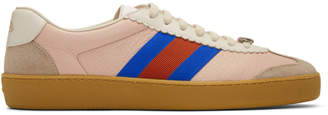 Gucci Pink and Beige G74 Sneakers