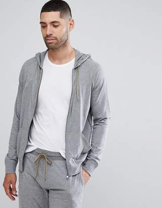Paul Smith Lounge Jersey Hoodie In Grey Marl