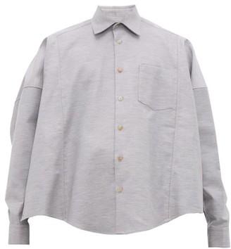 Bless Cotton Twill Poncho Shirt - Mens - Light Grey