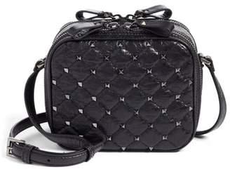 Valentino Rockstud Leather Camera Crossbody Bag