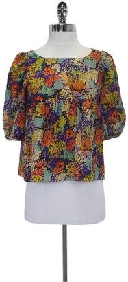 Ali Ro Printed MultiColor Cropped Blouse $58.99 thestylecure.com