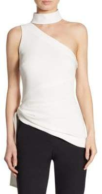 Leah One-Shoulder Choker Top
