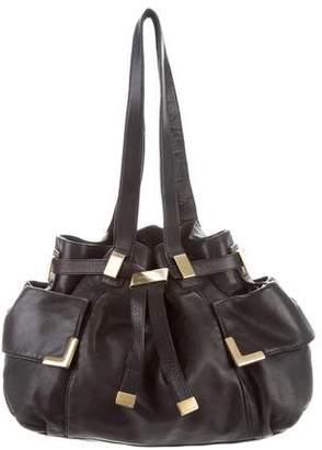Michael Kors Leather Drawstring Bag