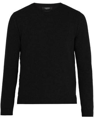 Valentino Rockstud Embellished Cashmere Sweater - Mens - Black