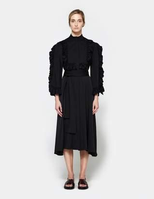 Ellery Olga Ruffle Sleeve Dress