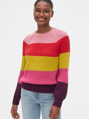 Gap Multicolor Stripe Crewneck Sweater