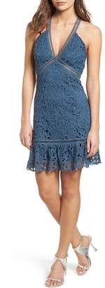 ASTR the Label Ruffle Hem Lace Dress