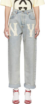 Gucci (グッチ) - Gucci NY Yankees Edition ブルー 80s ジーンズ
