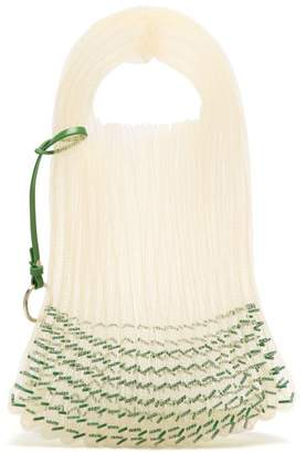 Jil Sander Bead Embellished Woven Tote - Womens - Green