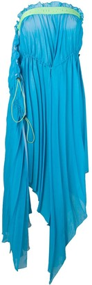 Unravel Project draped strapless dress
