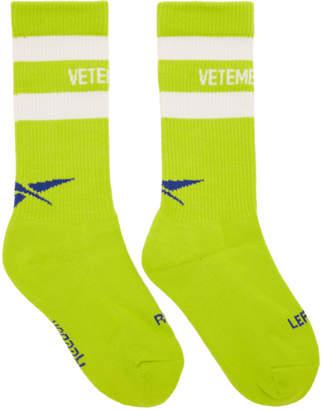 Vetements Yellow Reebok Classics Edition Metal Tennis Socks