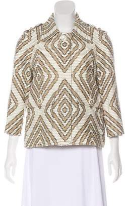 Tory Burch Printed Zip-Up Jacket