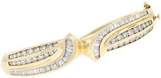 One Kings Lane Vintage 14k Yellow Gold 2.50ctw Diamond Bangle - Raymond Lee Jewelers