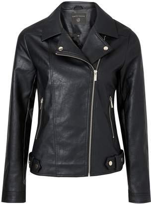Dorothy Perkins Womens Black Pu Biker Jacket