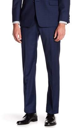 "Tommy Hilfiger Tyler Modern Fit TH Flex Performance Wool Blend Plaid Suit Separates Pant - 30-34"" Inseam"