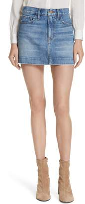 Frame Le Mini Blind Stitch Denim Skirt