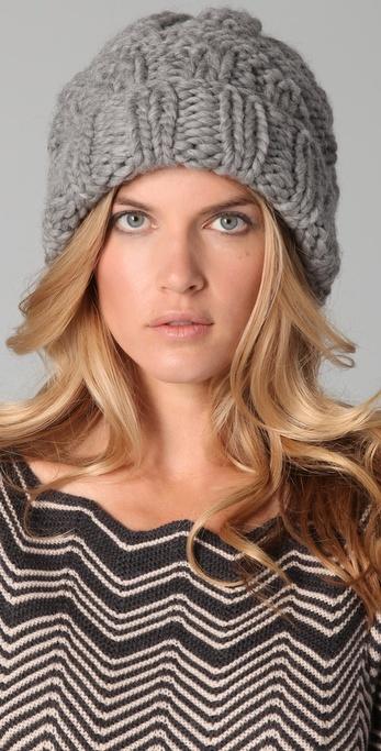 Eugenia Kim Marley Chunky Cuffed Slouchy Hat