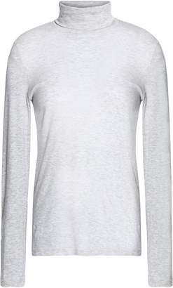 Petit Bateau Melange Cotton-jersey Turtleneck Top