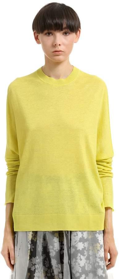 Jil Sander Linen, Cashmere & Silk Blend Sweater