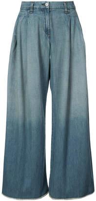 Nili Lotan cropped wide-leg jeans