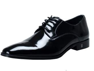 Versace Men's Polished Leather Derby Shoes