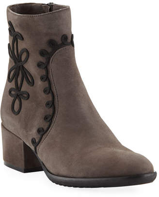 Sesto Meucci Fenny Embellished Suede Booties, Taupe