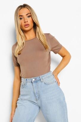boohoo Louise Basic T-Shirt Bodysuit