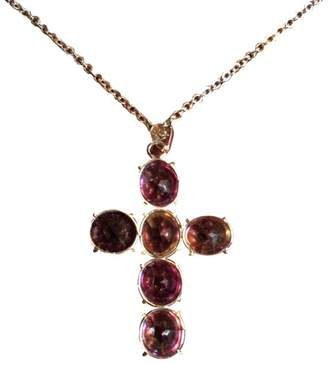 Reed & Barton Sterling Silver Amethyst Cross Pendant Necklace