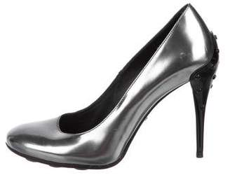 Tod's Patent Leather Round-Toe Pumps