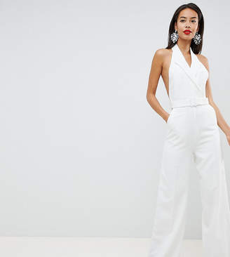 Asos Tall DESIGN Tall tux jumpsuit with wide leg