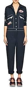 Mira Mikati Women's Appliquéd Stretch-Cotton Jumpsuit - Navy