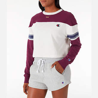 Champion Women's Long-Sleeve Crop T-Shirt