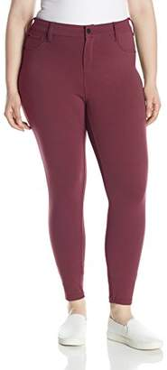 Celebrity Pink Jeans Women's Plus Size Compression Ponte Skinny