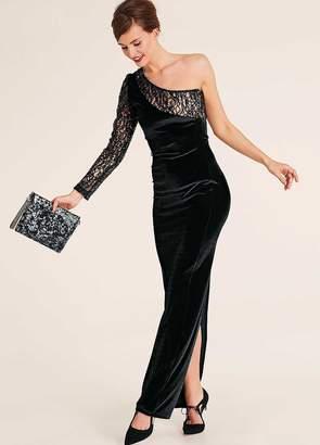 Heine One-Shoulder Evening Maxi Dress