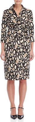 Samantha Sung Kiss Sloan Printed Dress